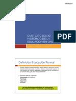 Contexto socio histórico de la educación en chile
