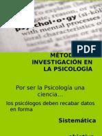 MÉTODOS DE INVESTIGACIÓN EN LA PSICOLOGÍA