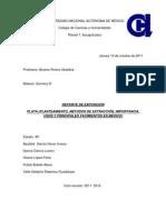 REPORTE DE EXPOSICIÓN MÉTODOS DE EXTRACCIÓN DE LA PLATA.