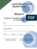 5to Grado - Bloque 2 - Proyecto 2