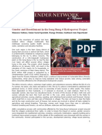GNN Oct 2011 - Gender and Resettlement in the Song Bung 4 Hyrdropower Project