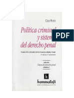Roxin, Claus - Politica Criminal Y Sistema del Derecho Penal