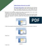 Cara Membuat Form Aplikasi Database Microsoft Access 2007