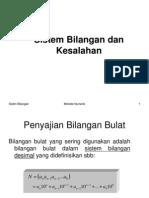 1-Sistem Bilangan Dan Kesalahan Pert 1