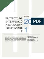 ENSAYO - PROYECTO DE INTERVENCIÓN EDUCATIVA RESPONSABLE