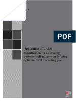 CIS WMP5012 Application of VALS Classification for Estimating Customer Self-reliance