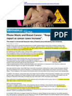 Phone Masts and Breast Cancer Request for Health Report as Cancer Cases Increase 12-10-2011