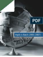 MPIB-IX Students Profiles 2005-07 03.10