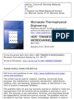 Heat Transfer in Micro Channels