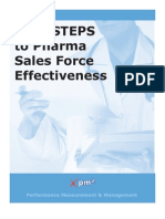 Wp Five Steps to Pharma Sales Force Effectiveness