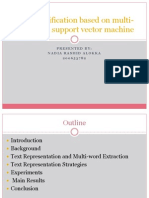Text Classification Based on Multi-word With Support Vector Machine