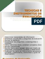 Tecnicas e Instrumentos de EvaluaciÓn 2