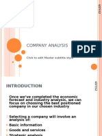 Company Analysis