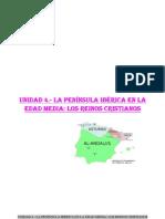 Unidad 4.- La península Ibérica en la edad Media los reinos cristianos