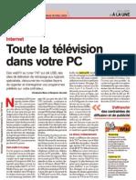 TV sur Pc