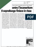 """28/06/2011 Torino Cronaca:""""Proteste contro l'inceneritore.Il sopralluogo finisce in rissa"""""""