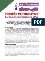 CALENDARIO y Reglamento Asamb31mayo2006 DEFINITIVO