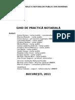 Ghid de Practica Notariala 2011