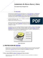 Cuidado y mantenimiento de discos duros y datos