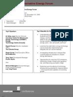 Alternative Energy Sales Brief