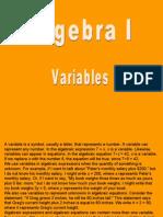 Algebra-Variables