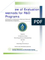 Evaluation Methods r and d