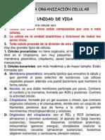 UNIDAD 3. LA ORGANIZACIÓN CELULAR