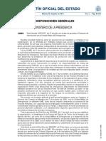 Real Decreto 1097/2011, de 22 de julio, por el que se aprrueba el Protocolo de Intervención de la Unidad Militar de Emergencia