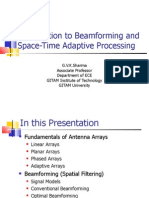 Adaptive Beam Forming and Space Time Adaptive Processing