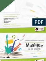 Musique à la page (Bibliothèque Départementale de la Gironde)