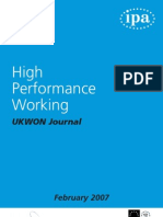 High Performance Working1