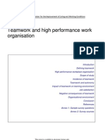 Teamwork and High Performance Work ion