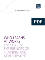 Who Learns at Work Employees' Experiences of Training and Development