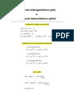 PH  Potencial hidrogeniônico