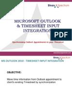 Microsoft Outlook Timesheet Integration