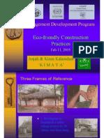 Management Development Program  Eco-friendly Construction Practices