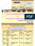 Role of Government Agencies in Promotion of Renewable Energy
