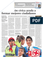 La educación cívica ayuda a formar mejores ciudadanos
