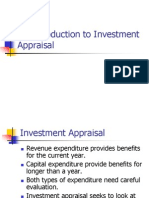 An Introduction to Investment Appraisal - Payback and ARR