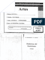 Adorno y Horkheimer. - La industria cultural