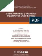 Crisis económica y financiera el papel de la UE