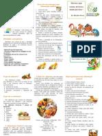 folheto alimentação