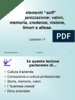 Sociologia del lavoro 11- elementi soft dell'organizzazione