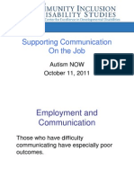 University of Maine Webinar with Autism NOW October 11, 2011