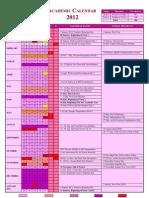 2012 Tentative Academic Calendar of Maldives [Oct 12]