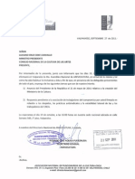 INVITACION 4TA ASAM. NACIONAL ANFUCULTURA A MINISTRO DE CULTURA