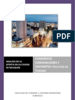Análisis de la Oferta en la Ciudad de Neuquén. Congresos, Convenciones y Visitantes