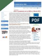 Objetivos de Desarrollo del Milenio - Informe Mundial 2008 - ONU Perú