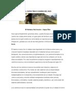 EL CAPAC ÑAN O CAMINO DEL INCA