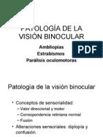 PATOLOGÍA DE LA VISIÓN BINOCULAR
